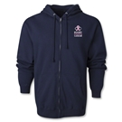 Rugby Fights Cancer Full-Zip Hooded Sweatshirt (Navy)