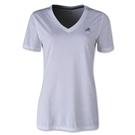 adidas Women's Ultimate V-Neck T-Shirt (White)