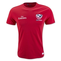 USA Rugby 2016 Badge T-Shirt (Red)