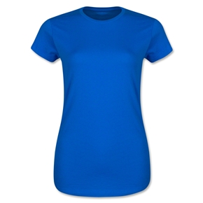 Junior Ladies 4.3 Oz Cotton T-Shirt (Royal)