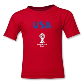 USA 2014 FIFA World Cup Brazil(TM) Kids Core T-Shirt (Red)