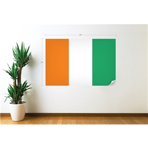 Cote d'Ivoire Flag Wall Decal
