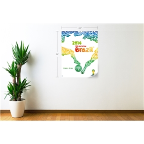 2014 FIFA World Cup Official Event Poster Wall Decal (English)