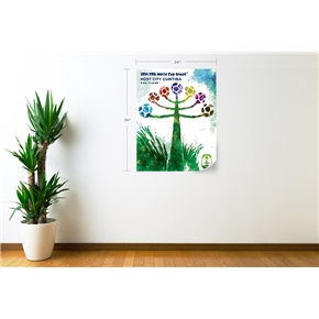 Curitiba 2014 FIFA World Cup Host City Poster Wall Decal