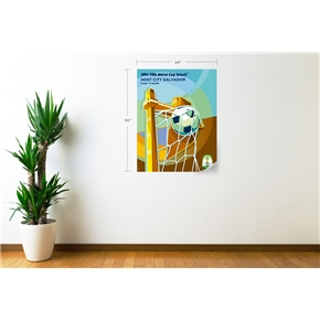 Salvador 2014 FIFA World Cup Host City Poster Wall Decal