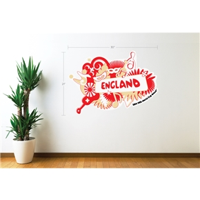 England 2014 FIFA World Cup Celebration Wall Decal