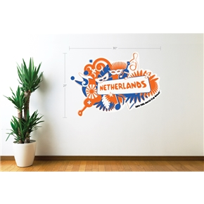 Netherlands 2014 FIFA World Cup Celebration Wall Decal