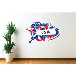 USA 2014 FIFA World Cup Celebration Wall Decal