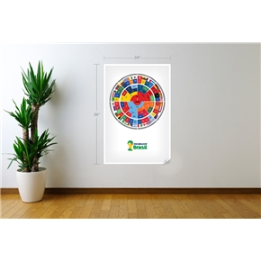 2014 FIFA World Cup Radial Bracket Wall Decal