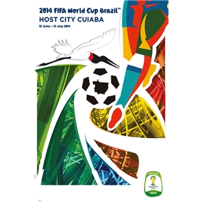 Cuiaba 2014 FIFA World Cup Brazil(TM) Host City Poster