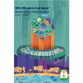 Fortaleza 2014 FIFA World Cup Brazil(TM) Host City Poster