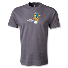 2014 FIFA World Cup Brazil(TM) Mascot Dribbling T-Shirt (Dark Grey)