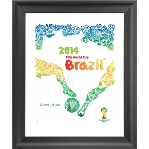 2014 FIFA World Cup Official Poster (English) Framed Print