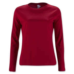 Women's Long Sleeve T-Shirt (Red)
