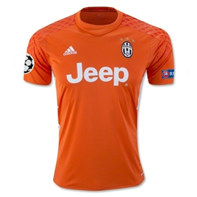 Juventus 16/17 Goalkeeper Soccer Jersey w/ Champions League Patch